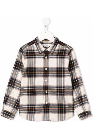 BONPOINT Plaid-check print shirt