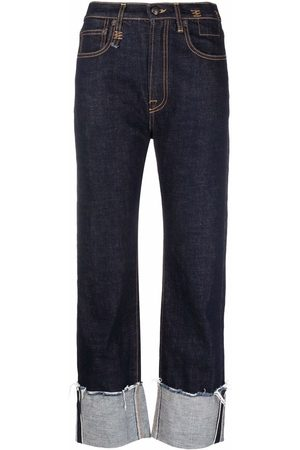 R13 Distressed turn-up jeans