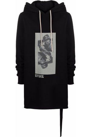 Rick Owens Graphic-print longline hoodie