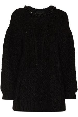 Simone Rocha Bead-embellished oversized jumper