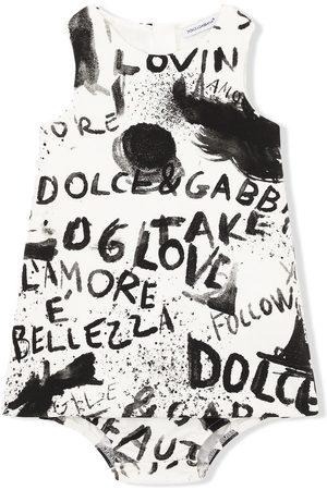 Dolce & Gabbana Sleeveless graffiti-print dress