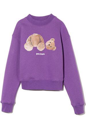 Palm Angels Girls Sweatshirts - Bear cotton sweatshirt