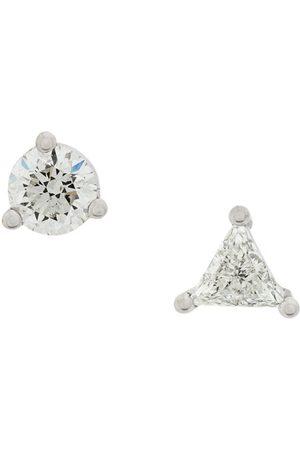 DELFINA DELETTREZ 18kt white gold Dots Solitaire diamond earrings