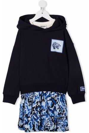 Kenzo Colour-block sweatshirt dress