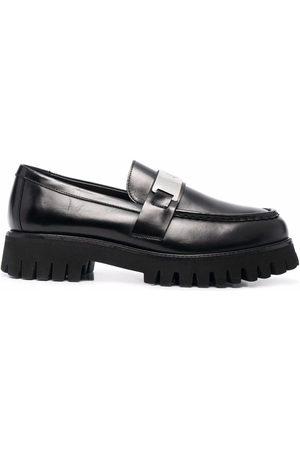 Maje Platform goatskin loafers