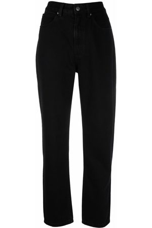 12 STOREEZ High-rise tapered-leg jeans