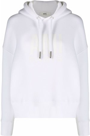 Ami Logo-print drawstring hoodie