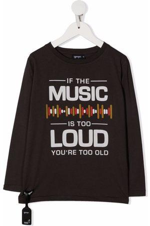 YPORQUÉ Slogan print long-sleeve top