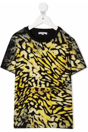Givenchy Boys Short Sleeve - Tiger-print T-shirt