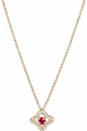 David Yurman 18kt yellow Venetian Quatrefoil diamond necklace