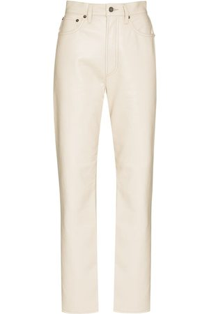 AGOLDE 90s Pinch Waist leather trousers