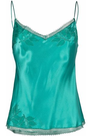 CARINE GILSON Embroidered silk camisole top