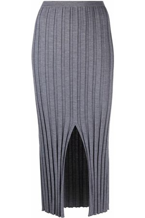 THEORY Women Skirts - Mid-length ribbed skirt