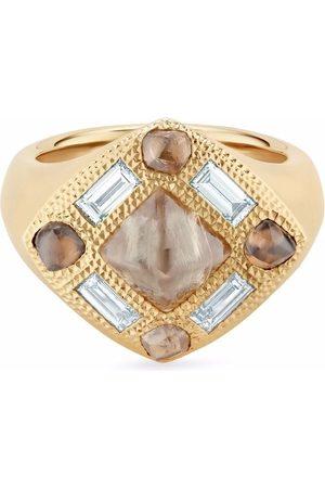 De Beers 18kt yellow Talisman diamond signet ring