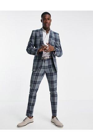ASOS Men Skinny Pants - Super skinny suit trousers with tartan check in