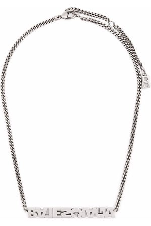 Balenciaga Typo turn necklace