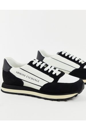 Armani Men Boots - Contrast panel logo runners in /white