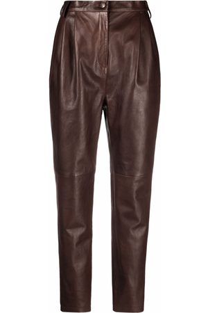 MAGDA BUTRYM High-waisted leather trousers