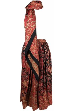 A.N.G.E.L.O. Vintage Cult Women Midi Skirts - 1970s floral gathered midi skirt and scarf