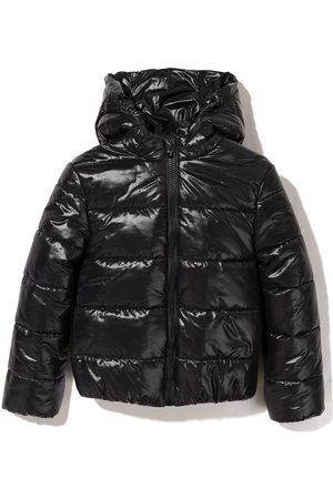 Balmain Logo-print padded coat