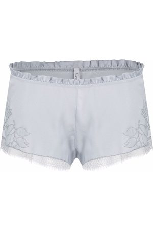 CARINE GILSON Women Briefs Shorts - Embroidered charmeuse shorts