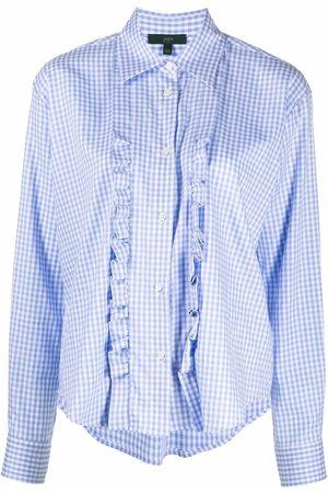 JEJIA Ruffle-trim checked shirt