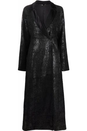 Gianfranco Ferré Women Coats - 1990s metallic finish long coat