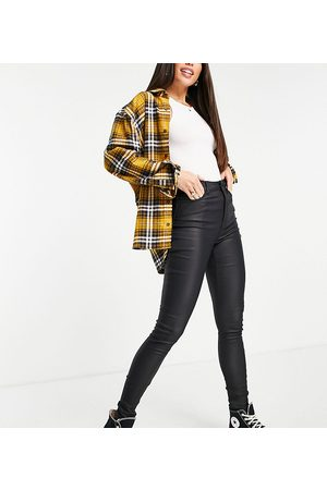 New Look Women Skinny - Faux leather coated skinny jeans in