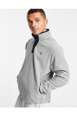 Polo Ralph Lauren Icon logo polar fleece hal zip sweatshirt in marl