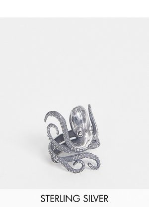 ASOS Men Rings - Sterling ring with octopus