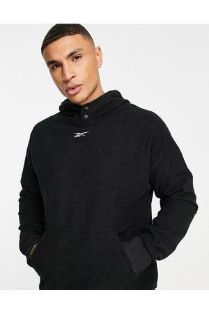 Reebok Men Sports Sweatshirts - Training fleece hoodie with logo in