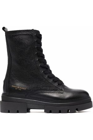 Tommy Hilfiger Monochromatic lace-up boots