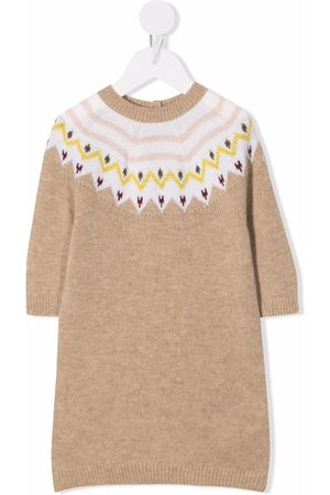 Moncler Baby Knitted Dresses - Patterned-knit dress