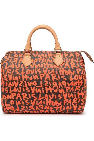 LOUIS VUITTON 2009 pre-owned graffiti monogram Speedy 30 Boston bag