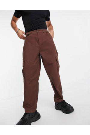 ASOS Cargo wide leg trousers in