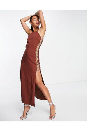 Virgos VL the Label ring side bodycon midi dress in