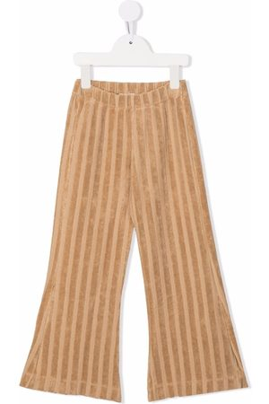 Longlivethequeen Textured-stripe flared trousers