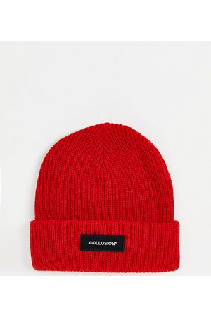 COLLUSION Unisex beanie in bright red