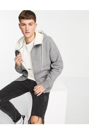 Levi's Levi's zip through hoodie in with borg lining