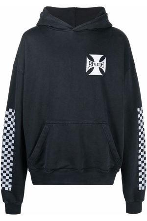 Rhude Rear logo-print hoodie