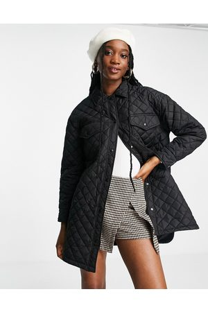 New Look Quilted shacket in