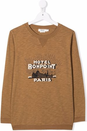 BONPOINT TEEN graphic-print one-sleeve top