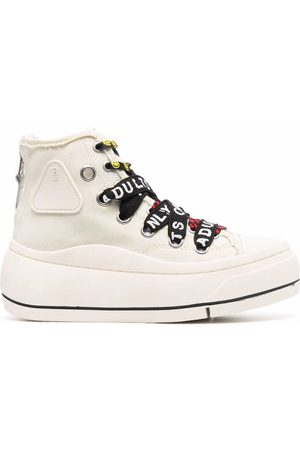R13 Logo-lace sneakers