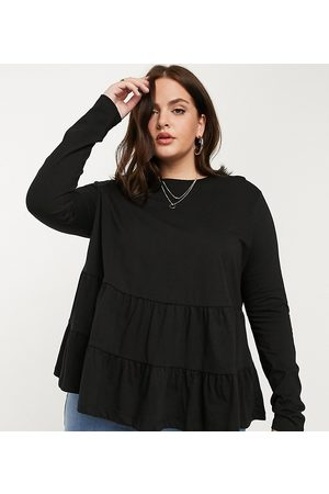 ASOS ASOS DESIGN Curve tiered smock with long sleeve top
