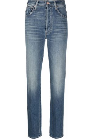Mother Women Straight - Faded straight-leg jeans