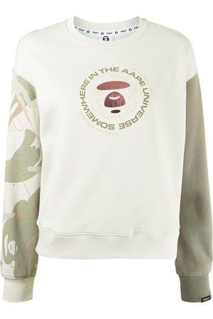 AAPE BY A BATHING APE Somewhere Universe logo-print sweatshirt