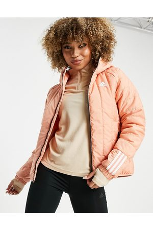 adidas Adidas Outdoor Itavic hooded light puffer jacket in