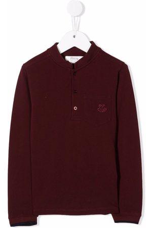 BONPOINT Boys Polo Shirts - Collarless polo top