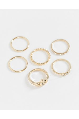 Liars & Lovers Heart and chain 6 x multipack rings in