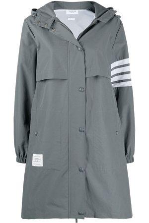 Thom Browne 4-Bar Stripe hooded raincoat